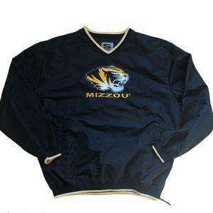 Mizzou men's pullover windbreaker jacket